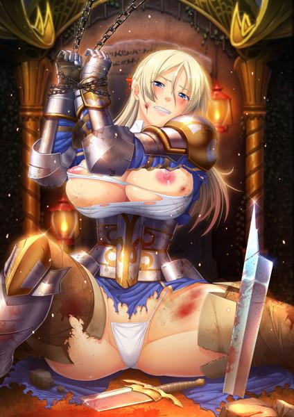 恥辱の女騎士 「オークの出来そこないである貴様なんかに、この私が……!!」