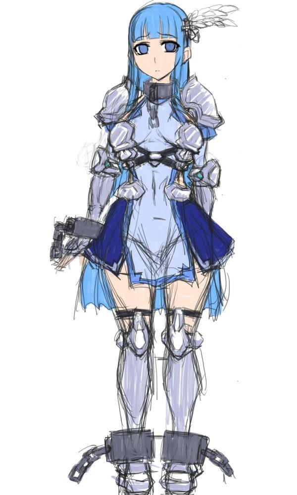 触手×ふたなり魔法騎士